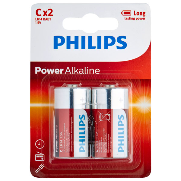 Philips LR14 C Alkaline Batterier 2 st | Brands, Batterier, Mixed | Intimast.se - Sexleksaker