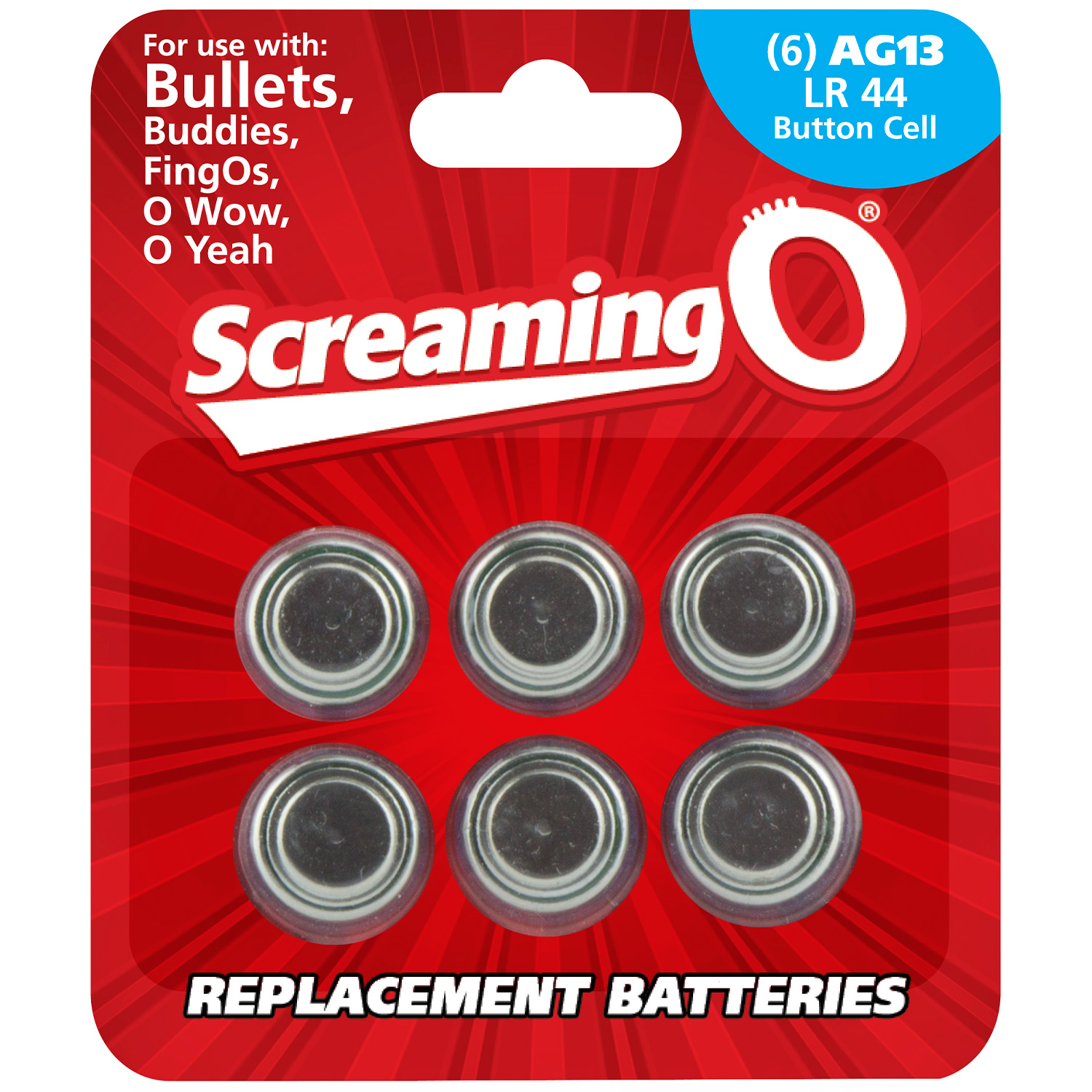 Screaming O Batterier AG13 LR44 6-pack | Brands, Screaming O, Batterier | Intimast.se - Sexleksaker