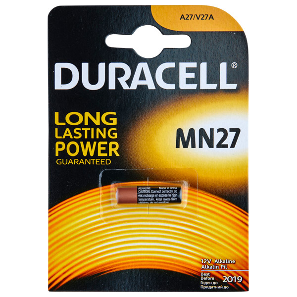 Duracell A27 12V Batter 1 stk | Brands, Batterier, Mixed | Intimast.se - Sexleksaker