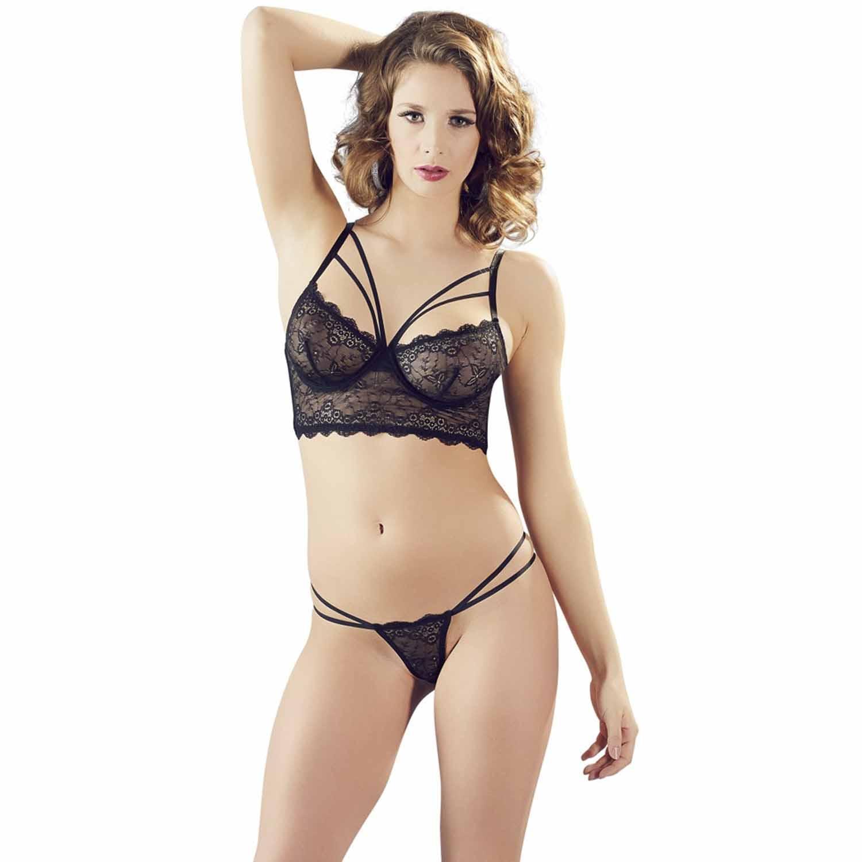 Cottelli Longline BH-Set i Spets | Brands, Lingeri, BH & BH-set, Cottelli Collection, Pikant Lingeri, Sexiga Underkläder | Intimast.se - Sexleksaker