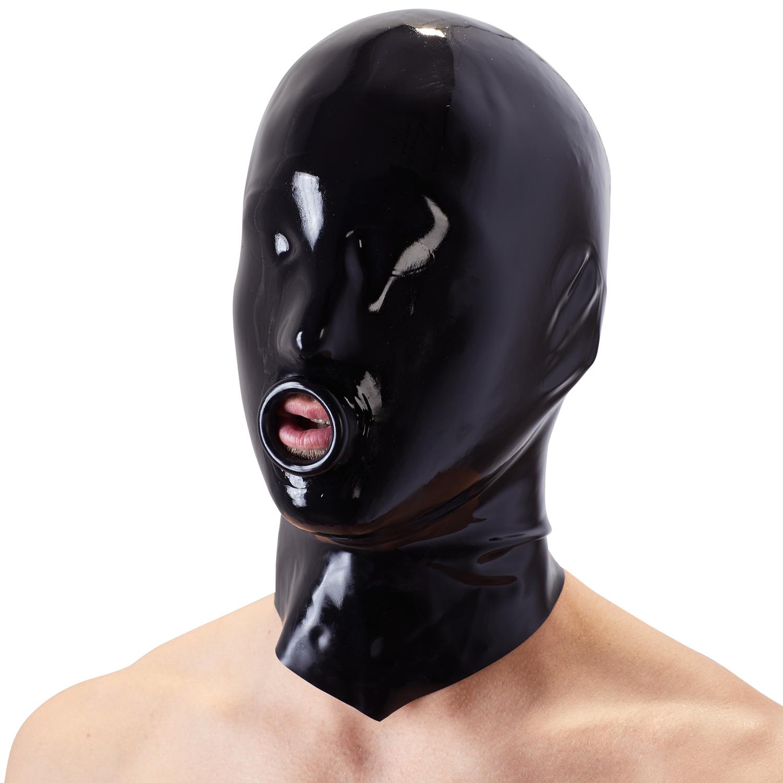 Late X Latexmask med O-Ring | Fetish, Brands, Fetishkläder, Masker, Gummi- & Lackoutfits, Ögonbindlar, Masker & Gags, Late X, Latexkläder, Latex | Intimast.se - Sexleksaker