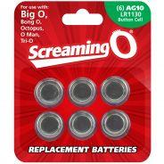 Screaming O Batterier AG10 LR1130 6-pack