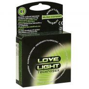 Love Light Glow Självlysande Kondomer 3 st