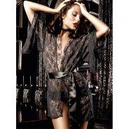 Baci Kimono Spets Svart