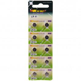 Hi-Watt Alkaline Batterier AG3 LR41 10-pack