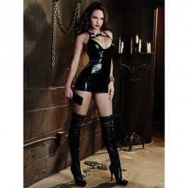 Dreamgirl Wetlook Chemise Set