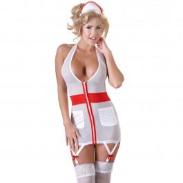 Cottelli Sjuksköterskedräkt med Strumpebandshållare