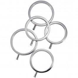ElectraStim Solid Metal Penisringar 5 st
