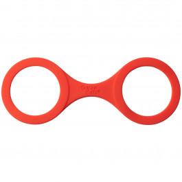 Quickie Cuffs Silikon Handbojor Medium Röda