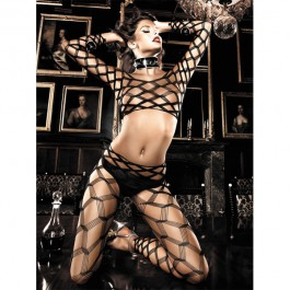 Baci Fishnet Body Catsuit set