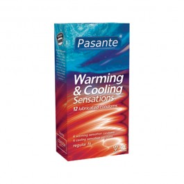 Pasante Warming & Cooling Kondomer 12-pack