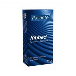 Pasante Ribbed Kondomer 12-pack