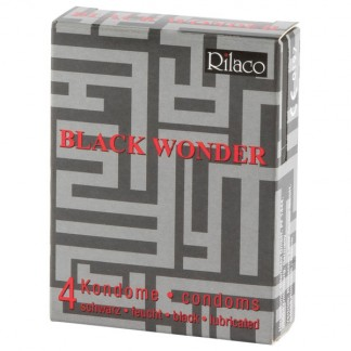 Rilaco Black Wonder Svarta Kondomer 4 st