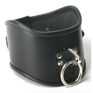 Strict Leather Locking Posture Collar Halsband