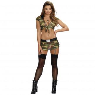 Dreamgirl Army Girl Dräkt