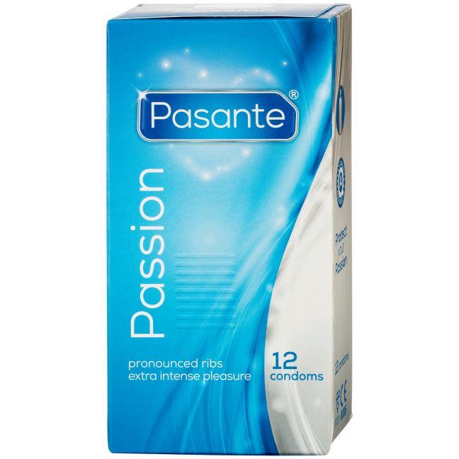 Pasante Passion Ribbed Kondomer 12-pack