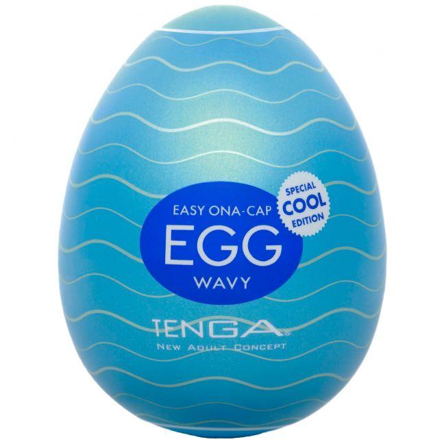 TENGA Egg Wavy Cool Edition Onani Handjob för Män