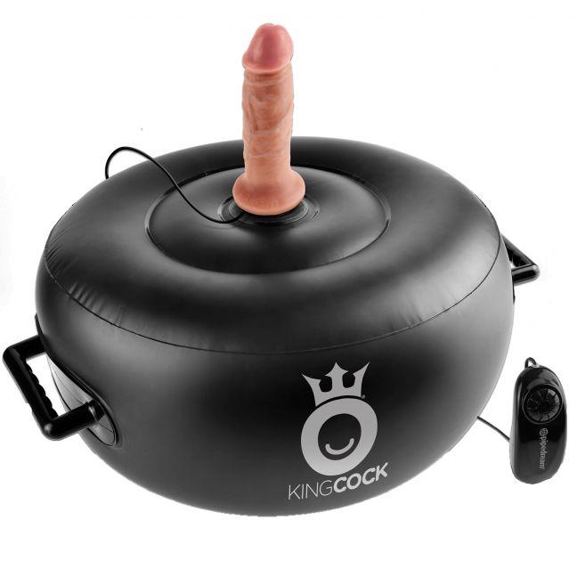 King Cock Vibrerande Uppblåsbart Hot Seat