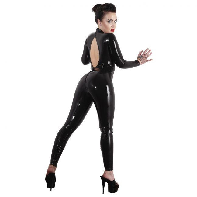 Late X Catsuit i Latex med Öppen Rygg