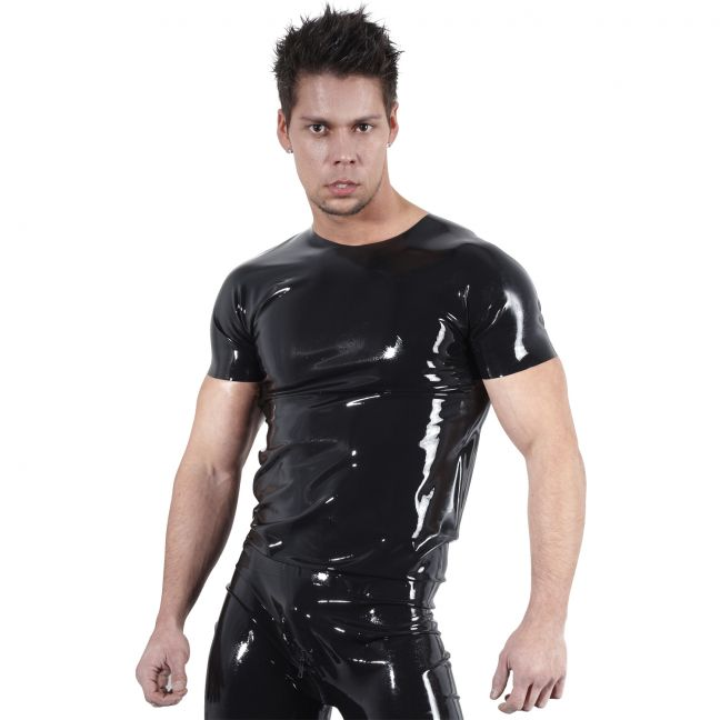 Late X Latex T-Shirt Män