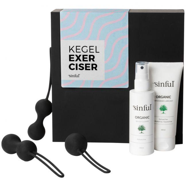 Sinful Kegel Exerciser Set med A-Z Guide