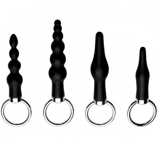 Master Series Ringed Rimmers Analplugg Set