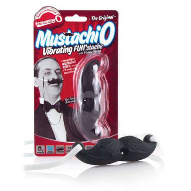 Screaming O Mustachio Vibrerande Mustasch