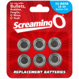 Screaming O Batterier AG13 LR44 6-pack
