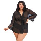 Dreamgirl Mesh Kimono Plus Size