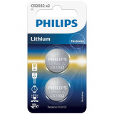 Philips CR2032 Alkaliskt Batteri 2 st