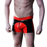 Mister B Saddle Rubber Shorts Röda