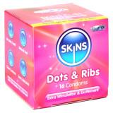 Skins Dot & Rib Kondomer 16 st