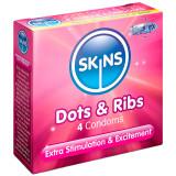 Skins Dot & Rib Kondomer 4 St