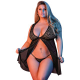 Magic Silk Fly Away Babydoll Set i Spets Plus Size