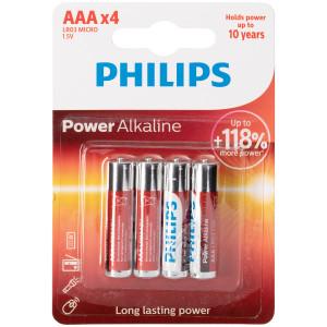 Philips LR03 AAA Alkaline Batterier 4 st