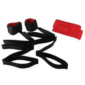Bondage Kit Med Kardborreband Manschetter