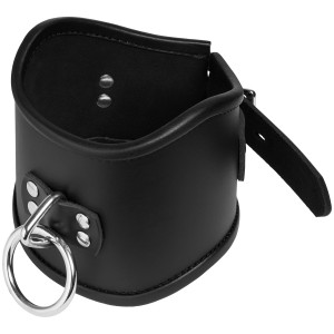 Strict Leather Locking Posture Collar Halsband