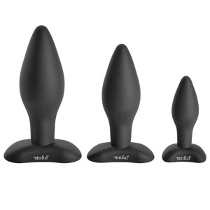 Sinful BumBum Silikon Analplugg Set