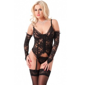 Amorable by Rimba Naughty Chemise med höfthållare Set i 4 Delar