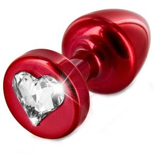 Diogol Anni Heart T1 Cristal Analplugg 25 mm