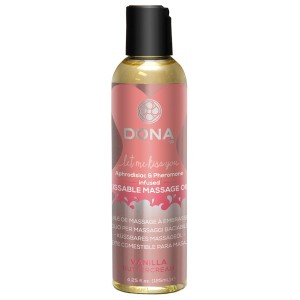 Dona Kissable Massageolja med Smak 125 ml