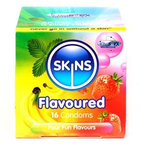 Skins Olika Kondomer med Smak 16 st