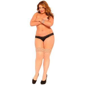 Seven til Midnight Thigh Highs Strumpor Nude Plus Size