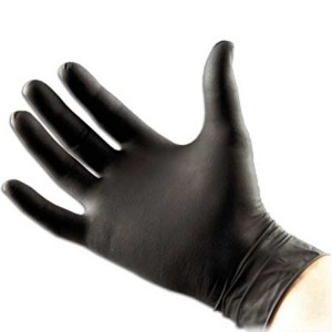 Svarta Latexhandskar 20-pack