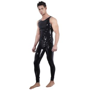 Late X Latex Jumpsuit utan Ärmar Män