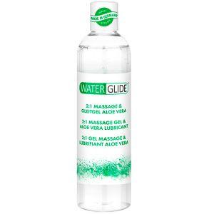 Waterglide Aloe Vera 2-i-1 Massageolja och Glidmedel 300 ml