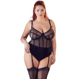 Cottelli Genomskinlig Bodystocking Plus Size