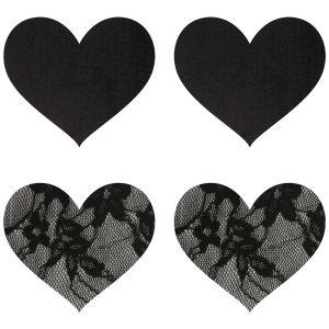 Peekaboos Nipple Stickers Hjärtan Spets 2-pack