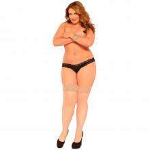 Seven til Midnight Thigh Highs Strumpor Nude Plus Size  1