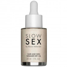 Slow Sex by Bijoux Hair and Skin Olja med Glitter 30 ml  1